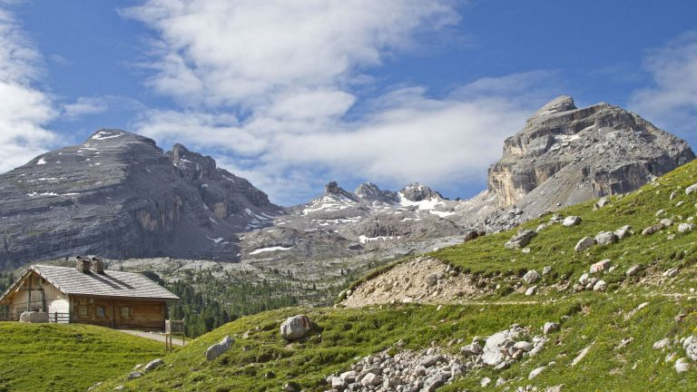 Image: from Fanes to the Scotoni Mountain Hut