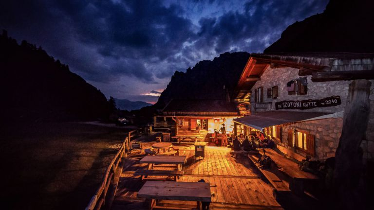Scotoni Mountain Hut and Restaurant in Alta Badia, Dolomites logo