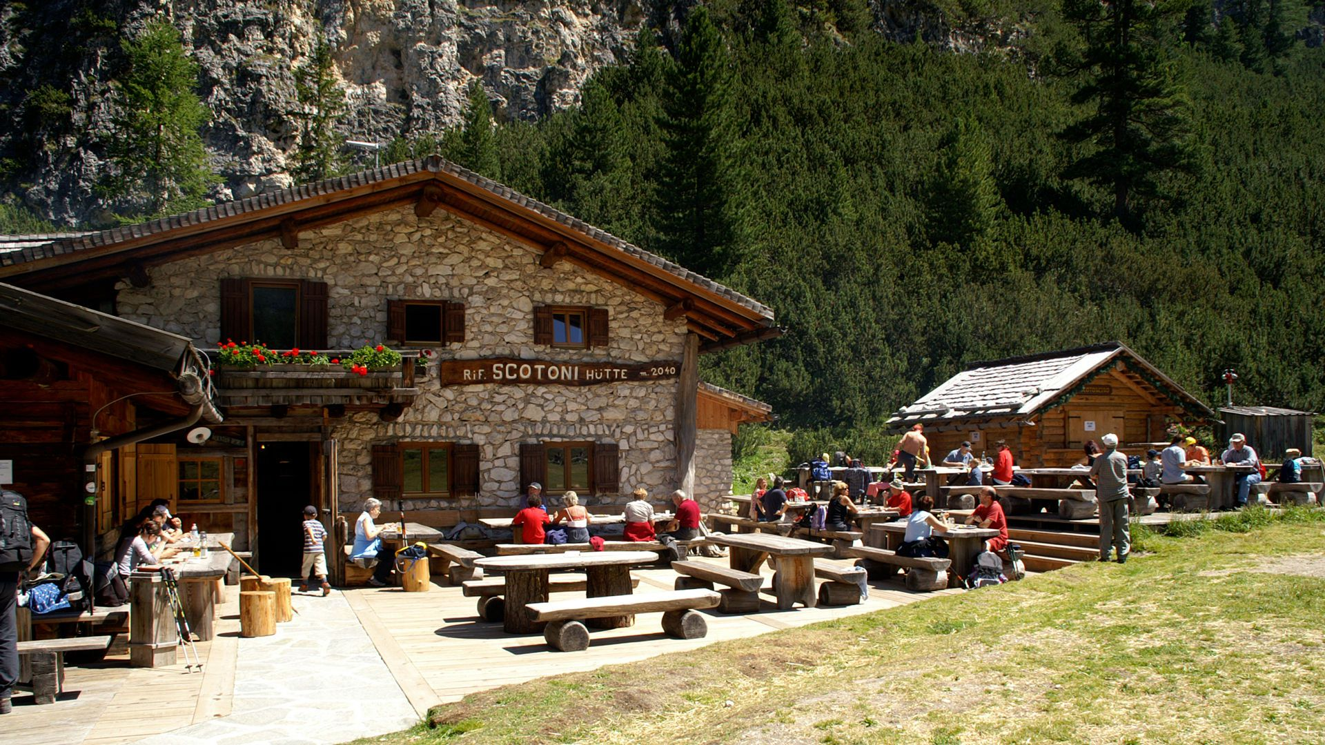 Image: Our location in San Cassiano in the Dolomites